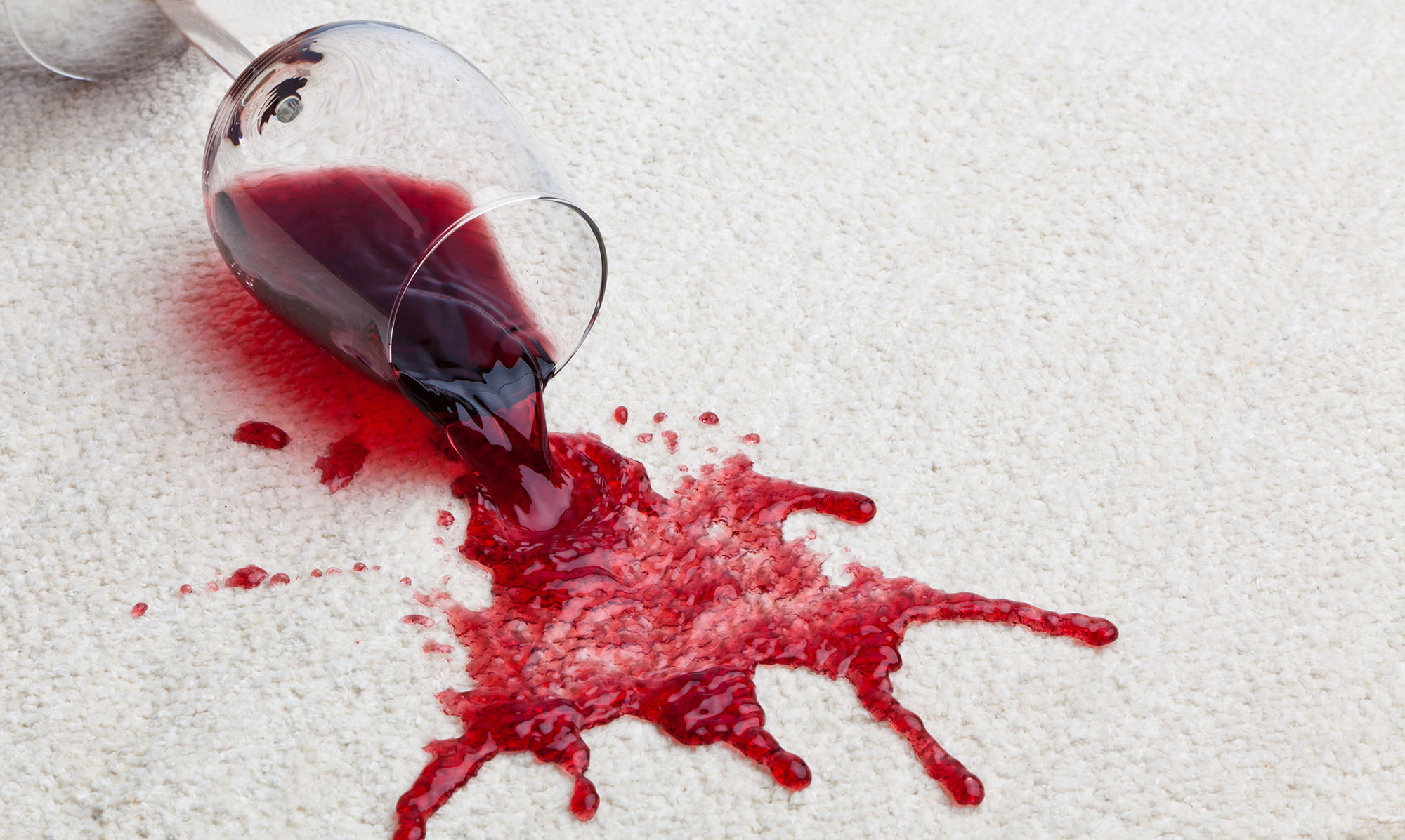 Stain Removal Experts - Red Wine spilt on carpets.